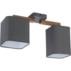 Licht-Erlebnisse Deckenleuchte IMALE Deckenleuchte Wohnzimmer Graphit gebürstetes Holz Flur Wohnzimmer Lampe