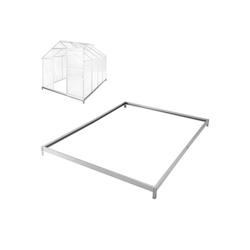 tectake Gewächshaus Fundament für Gewächshaus, 4.0 mm Wandstärke, Bodenanker 190.0 cm x 12.0 cm x 250.0 cm