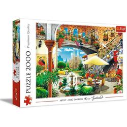 Trefl Puzzle Trefl 27105 Vista von Barcelona 2000 Teile Puzzle, 2000 Puzzleteile bunt