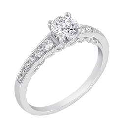 Vintage Verlobungsring mit Moissanit und Diamanten Vista