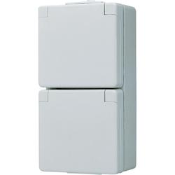 Jung 622W SCHUKO® Zweifach-Steckdose Weiß Serie WG