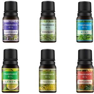 Beaupretty Bio Ätherische Öle Set Frauen Parfüm Aromatherapie Öle Geschenkbox, Zitrone Lavendel Minze Rosmarin Teebaum und Bergamotte, 10 ml (6 Stück)