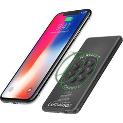 felixx Lader Premium Powerbank Wireless Charge, Li-Po, 5.000mAh schwarz