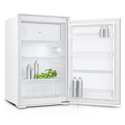 PKM Einbaukühlschrank KS 120.4 A+ EBN, 88 cm hoch, 54 cm breit, mit Gefrierfach Schleppscharnier 120 Liter A+