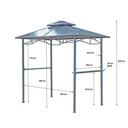 Grasekamp Pavillon BBQ, BxT: 150x240 cm