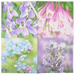 Linoows Papierserviette 20 Servietten Gartenblumen, Blumen Motive im Frühl, Motiv Blumen Motive im Frühling