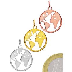 Adelia´s Kettenanhänger Anhänger Weltkugel 925 Silber
