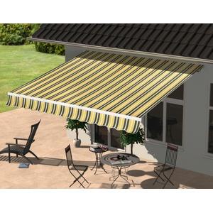 KONIFERA Gelenkarmmarkise 395x250 cm, Breite: 395 Ausfall: 250 Neigungswinkel verstellbar grau Markisen Garten Balkon
