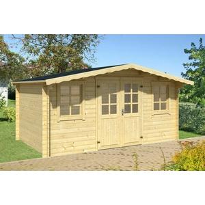 34mm Gartenhaus 400x300 cm + FUSSBODEN Gerätehaus Schuppen Holzhaus Holz