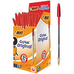 BIC Kugelschreiber Cristal 0.4 mm Rot 50 Stück