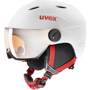 Skihelm Junior Visor Pro White/Red Mat 54-56 rot/weiß
