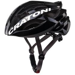 Cratoni Fahrradhelm Road-Fahrradhelm C-Bolt, Reflektoren, eingeschäumte Gurtbänder schwarz 56/59 - 56 cm - 59 cm