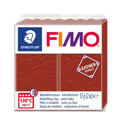 FIMO Modelliermasse Fimo Leder-Effect, 57 g rot
