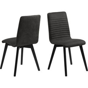 2x Aron Esszimmerstuhl stapelbar grau Set Stuhl Küchenstuhl Polsterstuhl Stühle