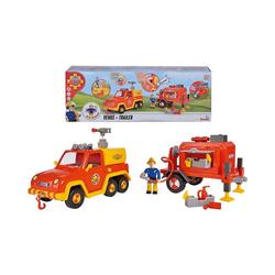 SIMBA Spielzeug-Auto Feuerwehrmann Sam Venus mit Anhänger und Figur