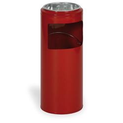 Außenaschenbecher aus metall 10 liter, rot
