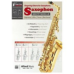 Grifftabelle Saxophon / Fingering Charts Saxophone - Buch