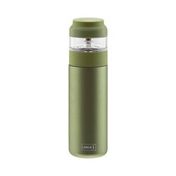 Lurch Isolierflasche Edelstahl Isolierflasche & Teezubereiter, 400ml grün