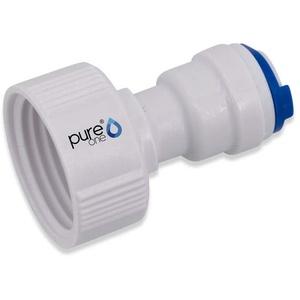 PureOne EF026-C Quick-Fitting - 3/4 Zoll IG auf 3/8 Zoll Schlauch (BSPT) | I-Form. Ausführung: I-Stück | I-Form. Zubehör für Umkehr-Osmose, Wasser-Installationen