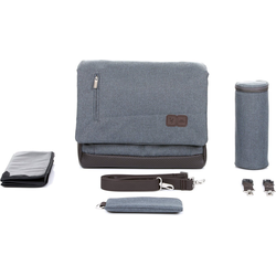 ABC Design Wickeltasche Wickeltasche Urban, graphite grey grau