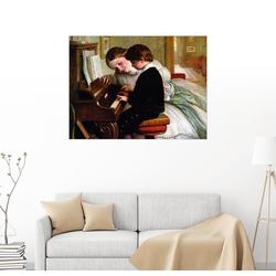 Posterlounge Wandbild, Musikunterricht 90 cm x 70 cm