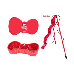 HEIM Napf-Set Hello Kitty Napfset, Keramik, Kunststoff, 3-teilig rot