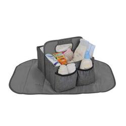Altabebe Aufbewahrungsbox mit Wickelauflage Baby Caddy Grau