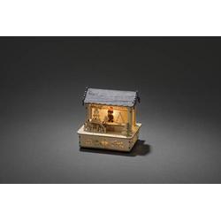 Konstsmide 2823-100 Warmweiß LED Holz, Natur, Grau