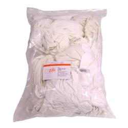 Putzlappen, Trikot weiß Grad 1, weißer Baumwollputzlappen, saugfähig, 10 kg-Ballen gepresst