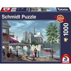 Schmidt Spiele Puzzle Schmidt 58375 - Premium Quality - Notre-Dame de Paris, 1000 Teile Puzzle, 1000 Puzzleteile
