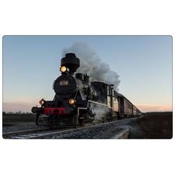 DesFoli Wandtattoo Eisenbahn Lok Lokomotive R0497 bunt 90 cm x 58 cm