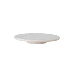 Bloomingville Servierplatte Bloomingville Servierplatte ELLIN Marmor Weiß 36 cm Drehbar