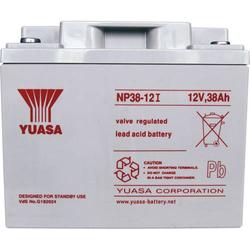 Yuasa NP38-12 NP38-12 Bleiakku 12V 38Ah Blei-Vlies (AGM) (B x H x T) 197 x 170 x 165mm M5-Schraubans