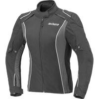 Büse Cara Damen Motorrad Textiljacke, schwarz-weiss, Größe 42