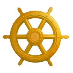 ROG-Gardenline Spielzeug-Steuerrad, Für Schiff / Spielturm aus Kunststoff - Ø 55 CM - Gelb gelb
