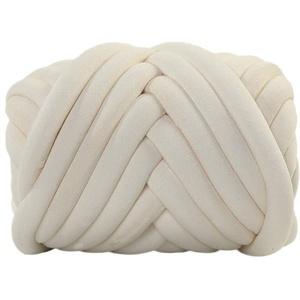 Nicole Knupfer Garn Wolle Chunky Garn Super Soft Arm DIY Hand Stricken Decke Roving Häkeln Garn (Beige)