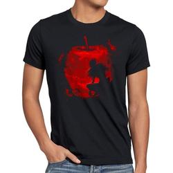 style3 Print-Shirt Herren T-Shirt Shinigami Apfel death manga anime note S