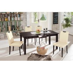 Home affaire Essgruppe (5-tlg.), aus Kiefernholz, gelaugt/ geölt beige Essgruppen Tische