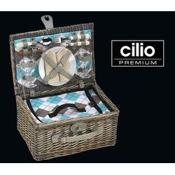 """Cilio Picknickkorb Cilio - Picknick-Korb """"Stresa"""" Weide mit Besteck & Geschirr 2 Personen 155716"""