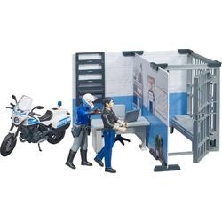 bworld Polizeistation mit Polizeimotor