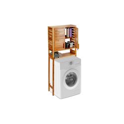 relaxdays Waschmaschinenumbauschrank Waschmaschinenschrank Bambus