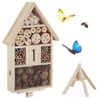Relaxdays Insektenhotel Haus auf Ständer,