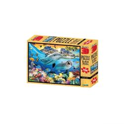 Philos Spiel, 3D Puzzle - 500 Teile - Island Sunset - Meer - Delfine