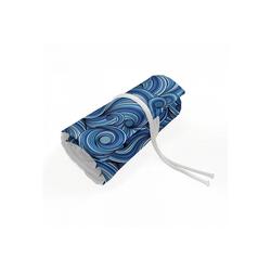 Abakuhaus Federmäppchen langlebig und tragbar Segeltuch Stiftablage Organizer, asiatisch zentangle Exotic blau 20 cm x 75 cm