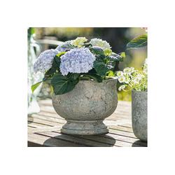 HomeLiving Blumentopf Amphore grau