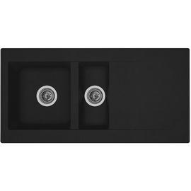 Respekta Denver 100 x 50 cm schwarz + Handbetätigung