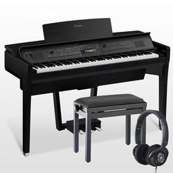 Yamaha Clavinova CVP-809 Digitalpiano Schwarz Set