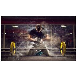 DesFoli Wandtattoo Kraftsport Fitness Hantel Fitnessstudio R2585 90 cm x 58 cm