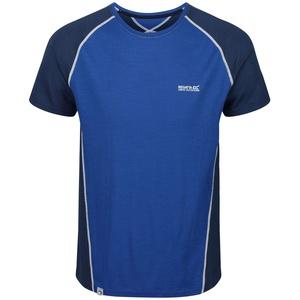 Regatta Tornell II Transpirant Merino TechWool Kurzarm T-Shirts/Poloshirts/Jacken, Herren, Nautical Blue/Dark Denim, XXXL