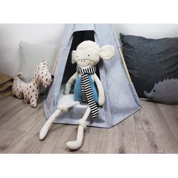 jilda-tex Puppen Zelt Puppen-Tipi grau